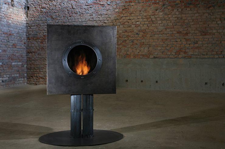 biokominek w industrialnym lofcie lovter. Black Bedroom Furniture Sets. Home Design Ideas